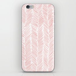 Living Coral Herringbone iPhone Skin