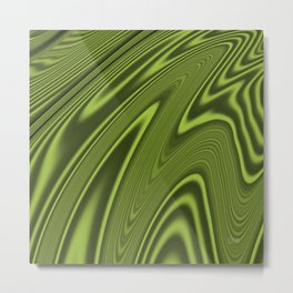 Abstract Fractal Colorways 03 Malalchite Lime Green Metal Print