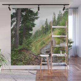 Alpine Ridgeline Trail Woods Forest Mountain Mist Washington Mount Baker Northwest Outdoors Nature W Wall Mural