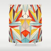 body Shower Curtains featuring Everything is Fine by Anai Greog