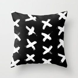 The X White on Black Throw Pillow