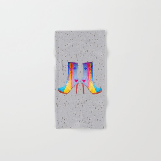 The Elisavet's Painted Boots | Kids painting |Fashion Design Hand & Bath Towel