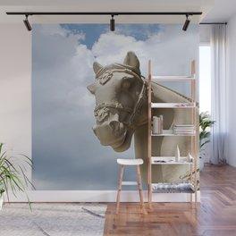 Stone Horse Head 2 Wall Mural