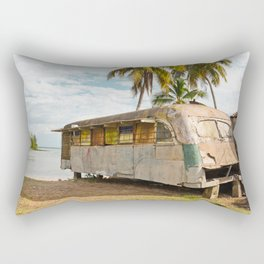 Playa Larga Bus Cuba Beach Hobo House Landscape Tropical Island Home Caribbean Sea Rectangular Pillow