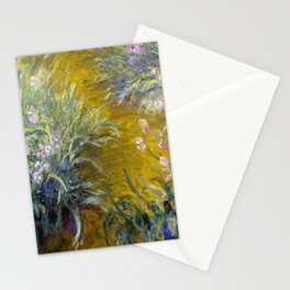 Claude Monet The Path through the Irises Stationery Cards