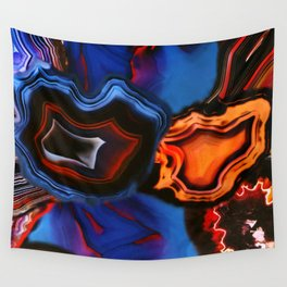 Agate, What springs from Earth dissolves to Earth again Wall Tapestry