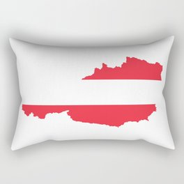 Austria Flag Map Rectangular Pillow