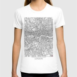 London Map White T-shirt