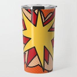 Comic Book Pop Art FLASH Travel Mug
