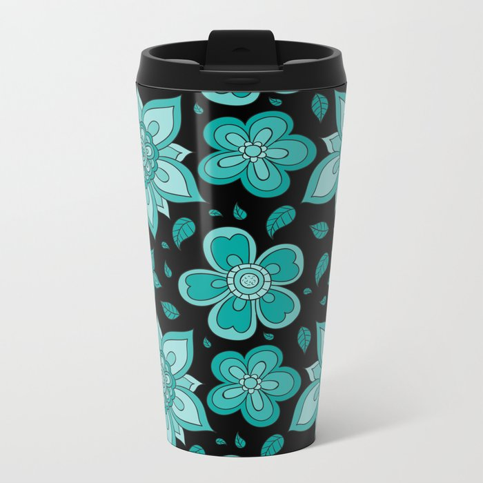 FLORAL PATTERN 12 Metal Travel Mug