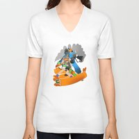 team fortress V-neck T-shirts featuring Ink Fortress 2 by Hexabeast
