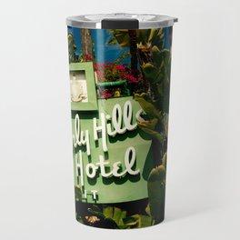 Classy Beverly Hills Hotel Mid Century Modern Neon Sign Travel Mug