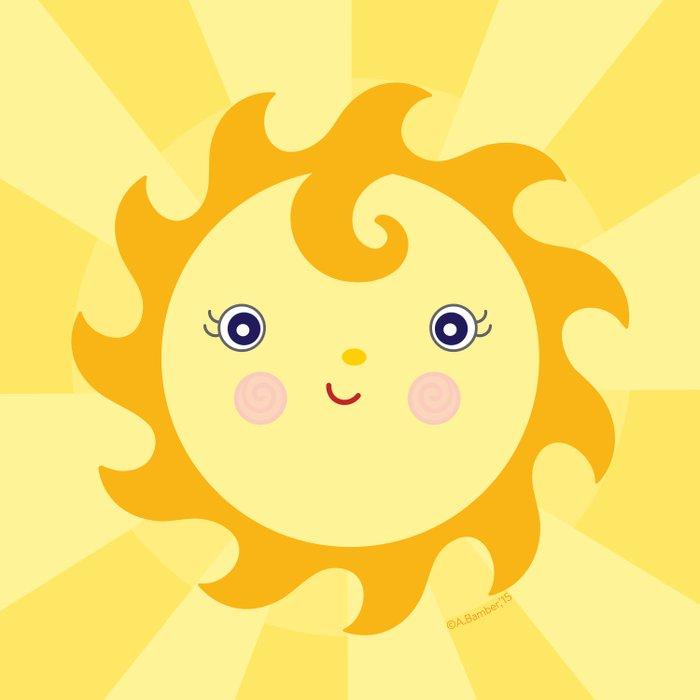 Sunny Sunshine Duvet Cover