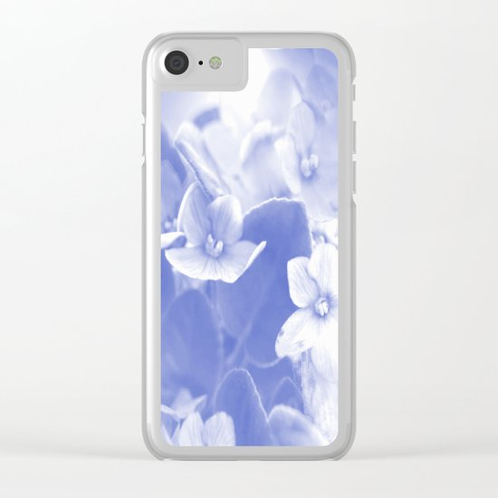 Nostalgic Flowers Clear iPhone Case