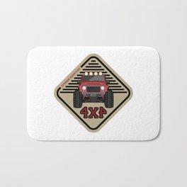 Red offroad car truck 4x4 Bath Mat