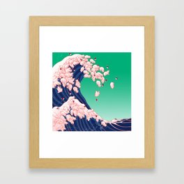 Christmas Baby Pigs The Great Wave Framed Art Print