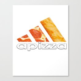 apizza funny pizza work out shirt Canvas Print