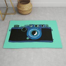 Blue Leica Rug