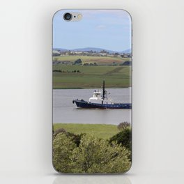 Tug Motoring Down the Tamar* iPhone Skin