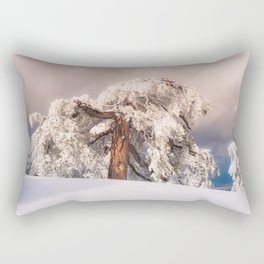 Frost Covered Pine Rectangular Pillow