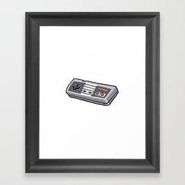 NES controller Framed Art Print