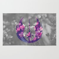 jedi Area & Throw Rugs featuring Floral Jedi Order by foreverwars
