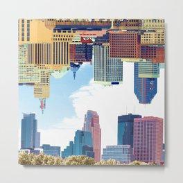 Twin Cities Minneapolis and Saint Paul Metal Print