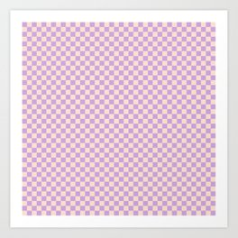 Check V - Lilac Art Print