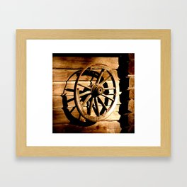 Old Cartwheel #decor #society6 Framed Art Print