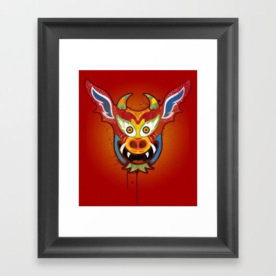 Yare Devil Mask Framed Art Print