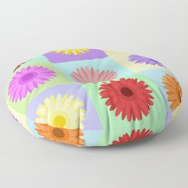 Gerbera Daisies Bright Color Design Floor Pillow