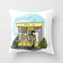 Balade à Honfleur Throw Pillow