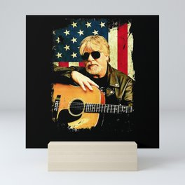 Vintage Bob Tee Seger Love American Flag Retro Mini Art Print