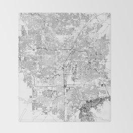 Las Vegas White Map Throw Blanket