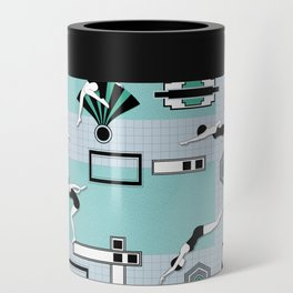 Art Deco Swimmers Can Cooler
