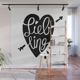 Liebling Calligraphy - White Wall Mural