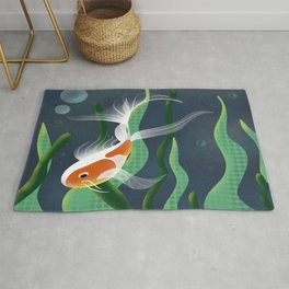 Koi and Plants // Fish In Water Rug