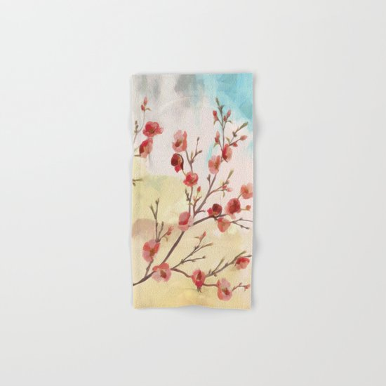 Cherry Blossom - Variation 2 Hand & Bath Towel