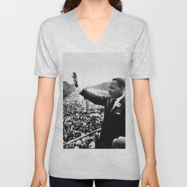Remembering African American History and Martin Luther King Unisex V-Neck