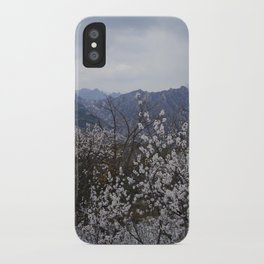 Snow and Blooms iPhone Case