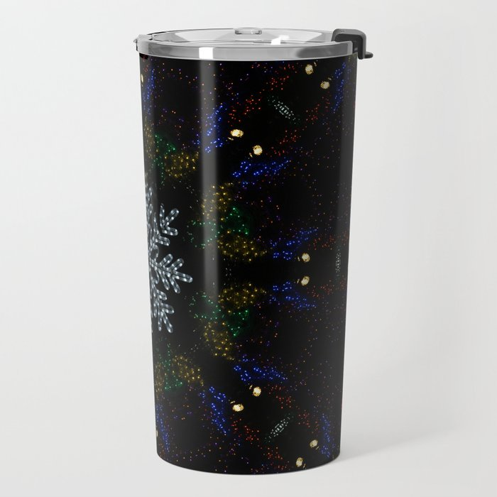 Continuous Christmas Lights Travel Mug