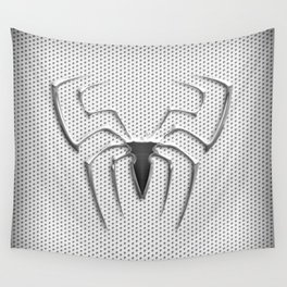 Spider Steel Chrome Wall Tapestry
