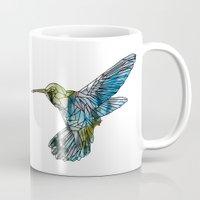 hummingbird Mugs featuring Hummingbird by madbiffymorghulis