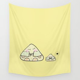 Oni~chan, the Japanese Onigiri Rice Ball Wall Tapestry