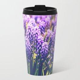 Vintage purple flowers Travel Mug