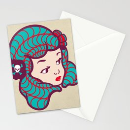 Girl Power Dynamite Laser Beam Stationery Cards