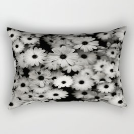daisy, black & white Rectangular Pillow