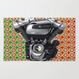 Portugal Biker Collage flag Rug