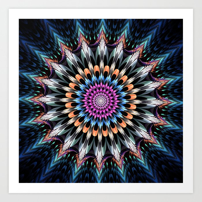 The flower of happiness Art Print