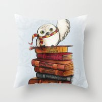 hedwig Throw Pillows featuring Hedwig by Sam Skyler